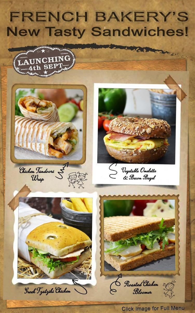 New Sandwiches and Salads!