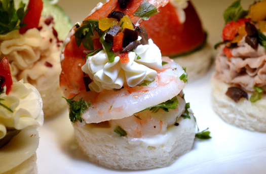 Prawn canape french bakery dubai menu products uae for French canape menu