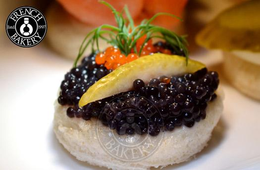 Savories french bakery dubai uae for Canape with caviar